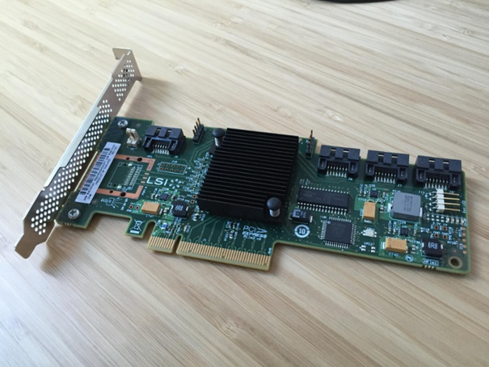Using an HP LSI SAS 9212-4i in IT mode as a SATA3 Controller